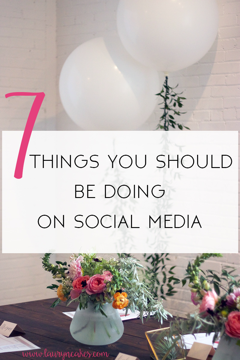 things to be doing on social media