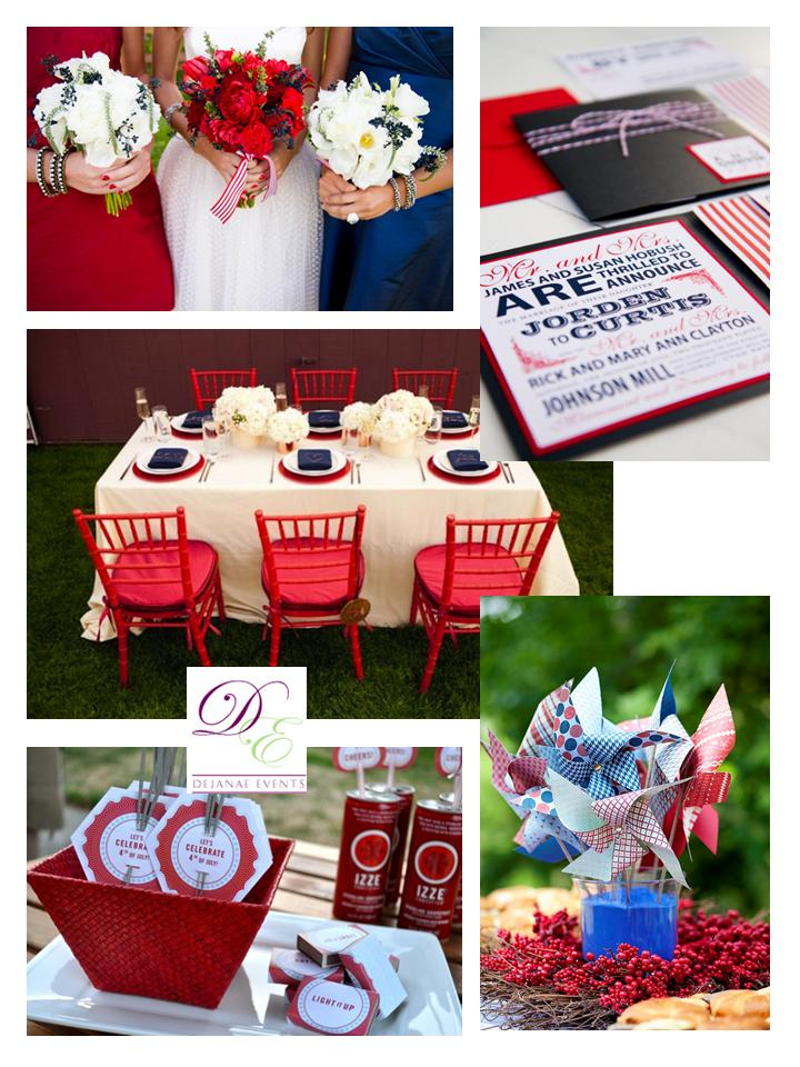 4th of july wedding decoration ideas