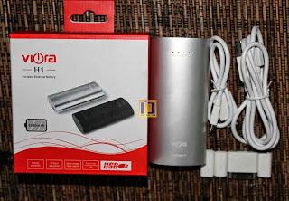 Power Bank Viora 5600mAh H1 Silver
