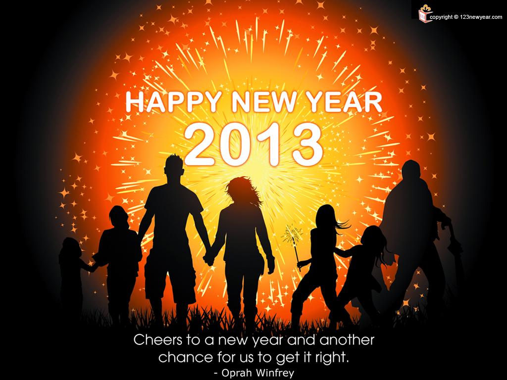 Happy New Year Fireworks 2013