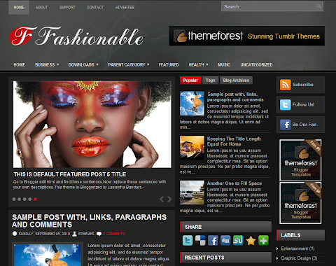 Fashionable Blogger Theme