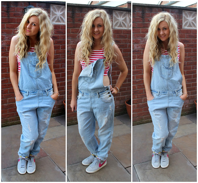 long primark dungarees with topshop crop top through chelseas eyes