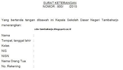 Contoh Surat Keterangan Tidak Mampu KPS dari Kepala Sekolah