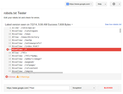Robots.txt Launched In Google Webmaster Tools - To crawl, or not to crawl, that is the robots.txt question