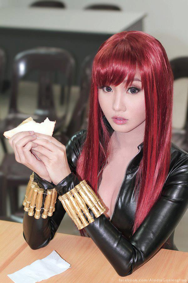 alodia gosiengfiao sexy black widow cosplay 04