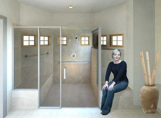 Baño En Ducha De Un Paciente:Viviendas para la Tercera Edad: Cuarto de baño para ancianos