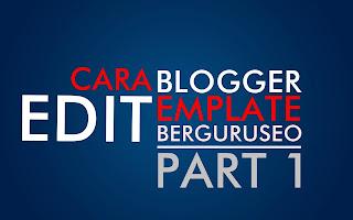 Logo Belajar Cara ubsh Edit Template Blogspot Keren