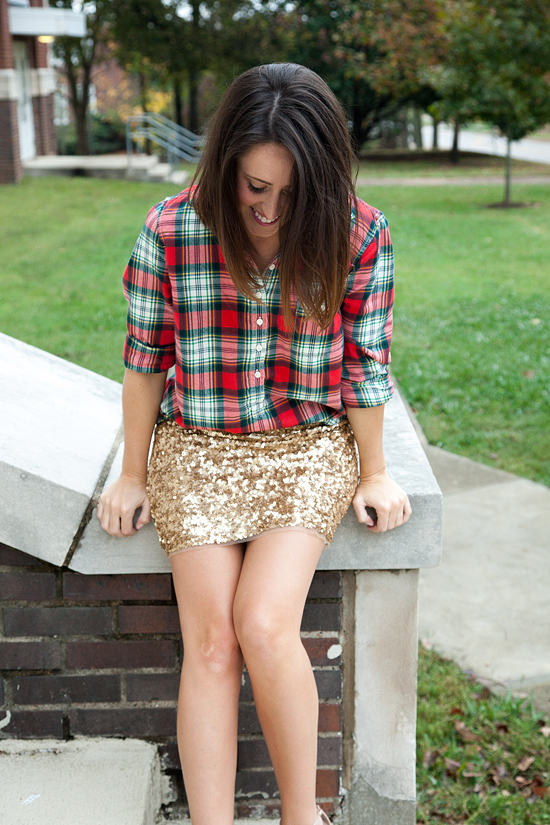 Here&Now: sequin skirt for Fall