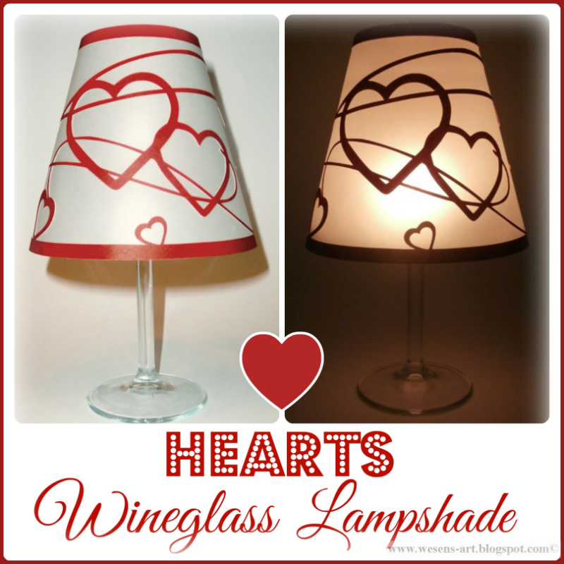 Wineglass Lampshade Hearts wesens-art.blogspot.com