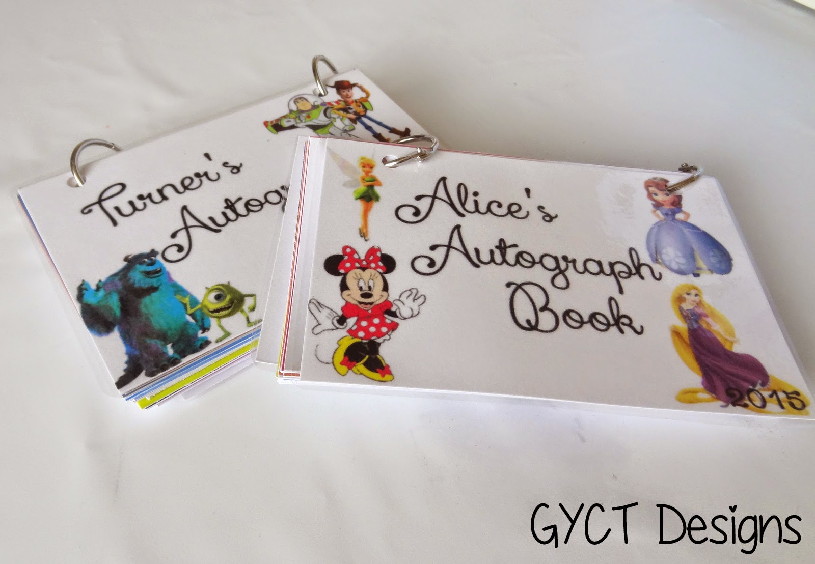 DIY Character Autograph Books and Printables by GYCT