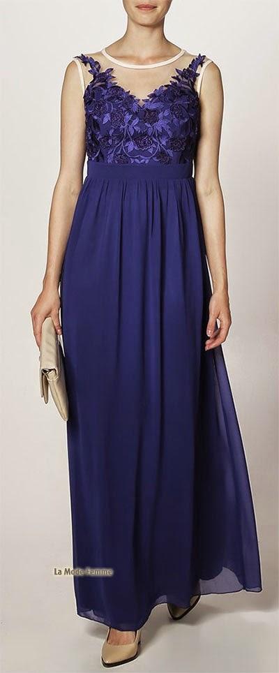 Robe longue glamour bleu de la marque Little Mistress