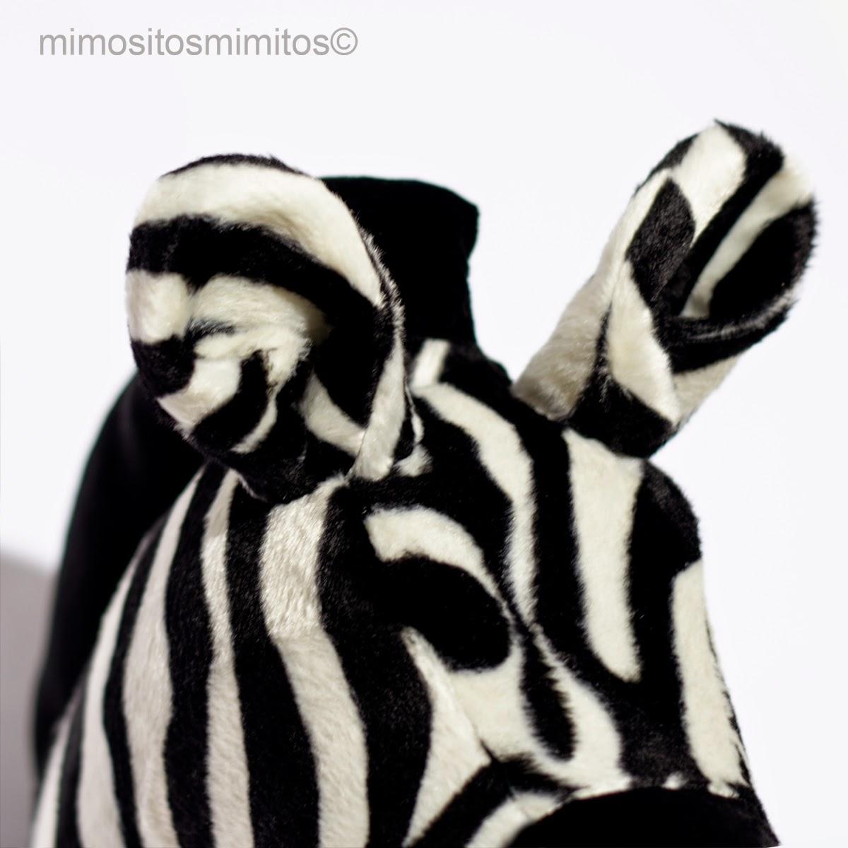 cabeza tela cebra hecha a mano craft handmade zebra softhead para decorar