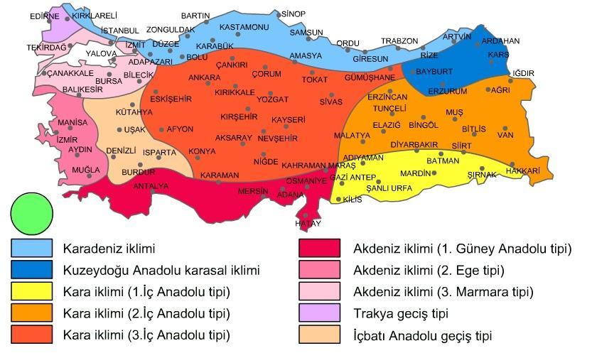Türkiye iklim haritasi 5 sinif sosyal bilgiler