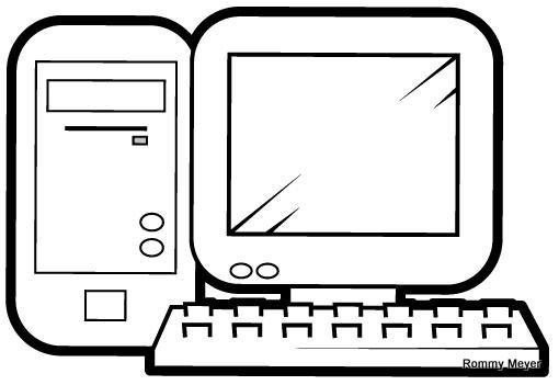 Computador para colorear para niños - Imagui