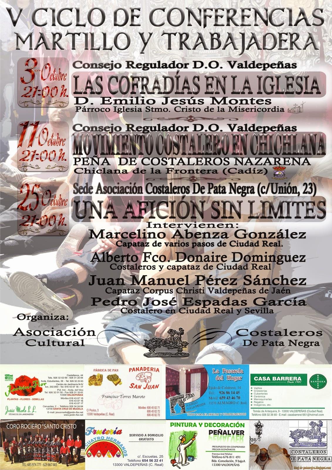 """V Ciclo de Conferencias """"Martillo y Trabajadera"""""""