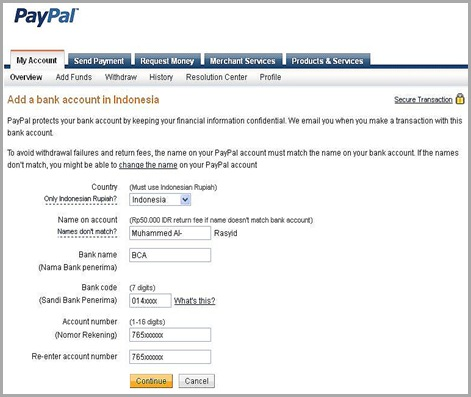 how to cancel a withdrawal from paypal to bank