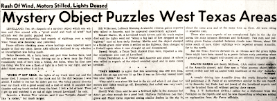 Mystery Object Puzzles West Texas - Alamogordo Daily News 11-4-1957