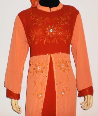 Grosir baju muslim murah online tanah abang gamis pesta Baju gamis lengan lonceng