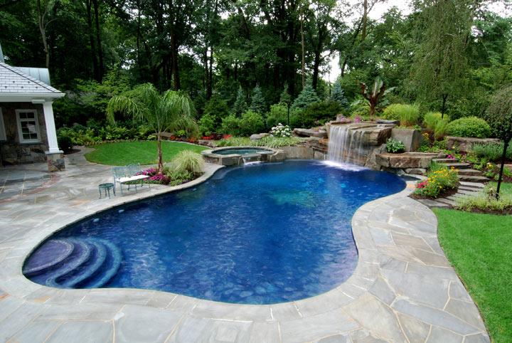 rumah mewah yang ada kolam renang gambar desain rumah mewah