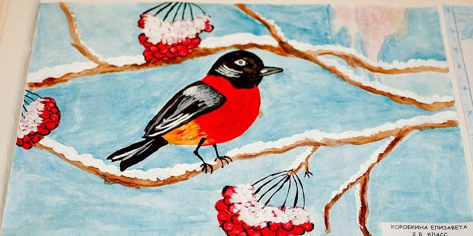 Рисунки в 3 классе на тему зима