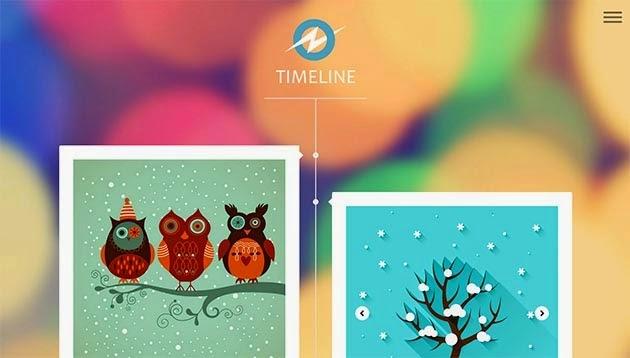 Timeline Template Blogger