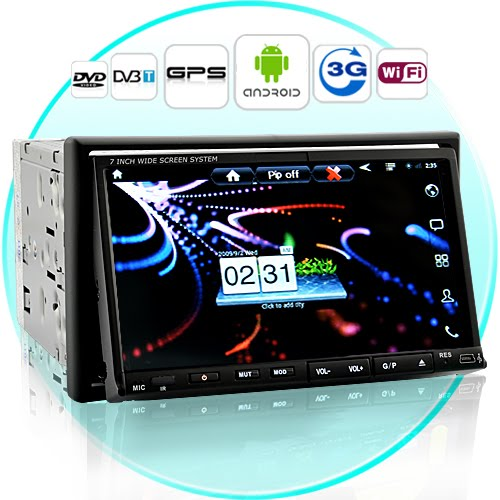 7 Inch Android 2.3 Car DVD with 3G Internet (WiFi, GPS, DVB-T)