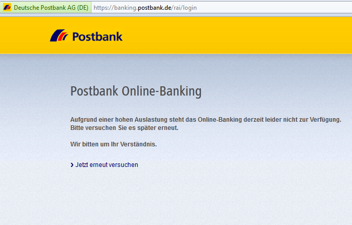 das geht gar nicht eher naiv als clever postbank online banking probleme. Black Bedroom Furniture Sets. Home Design Ideas