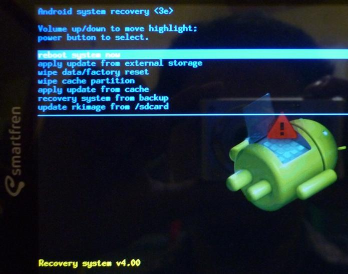 menu yang ada didalam recovery mode adalah sebagai berikut: