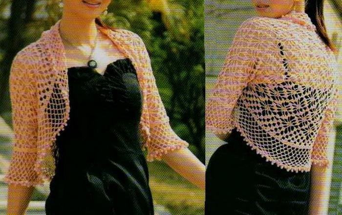 Free Crochet Patterns Summer Bolero : Crochet Sweaters: Bolero Shrug - Lace crochet Shrug For Summer