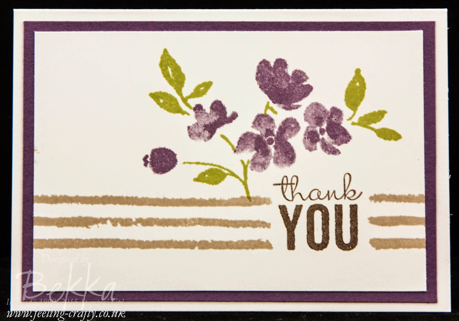 Painted Petals Thank You Cards - get your Stampin' Up! UK Supplies here www.bekka.stampinup.net