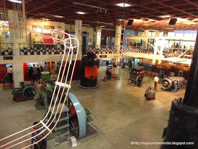 Engine Hall at Vishveshwaraya Science Museum