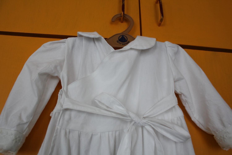 Robe de baptême détail dos