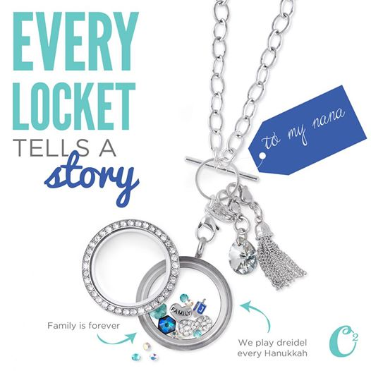 Hanukkah Origami Owl Living Locket - come create yours today at StoriedCharms.com