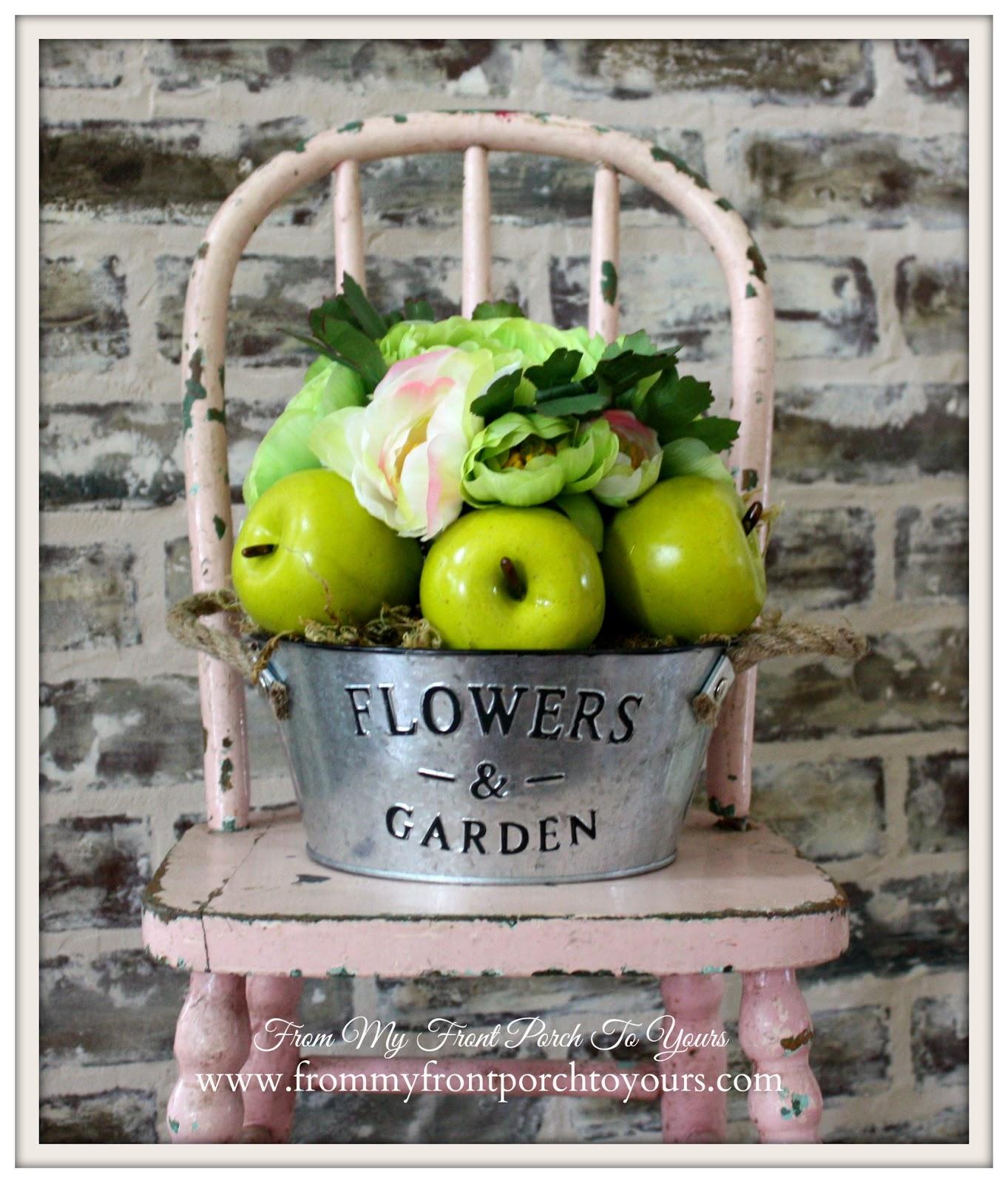 In expensive spring floral arrangement.