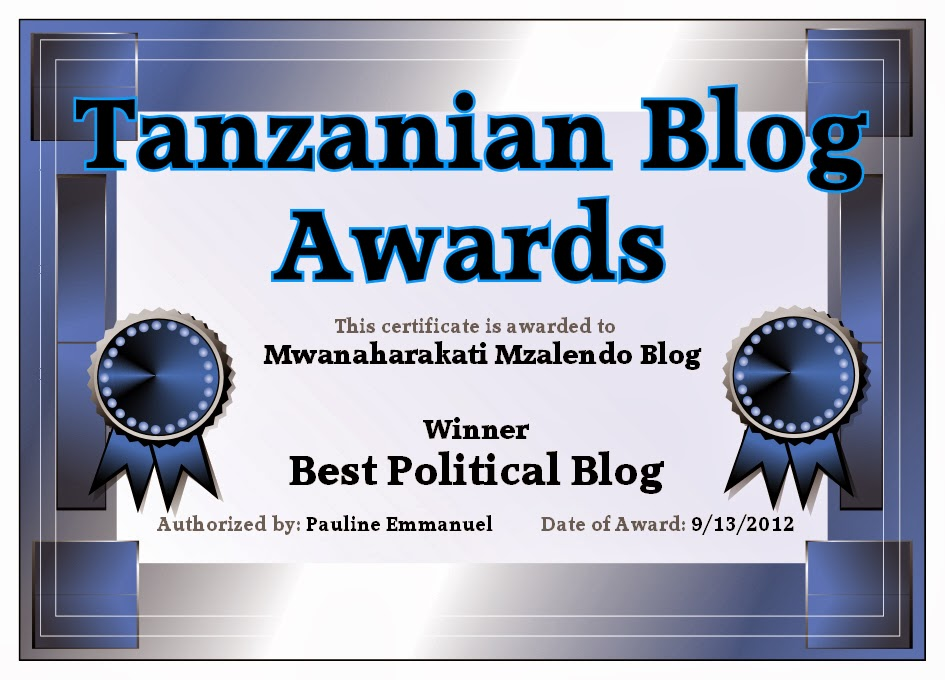 BEST POLITICAL BLOG 2012
