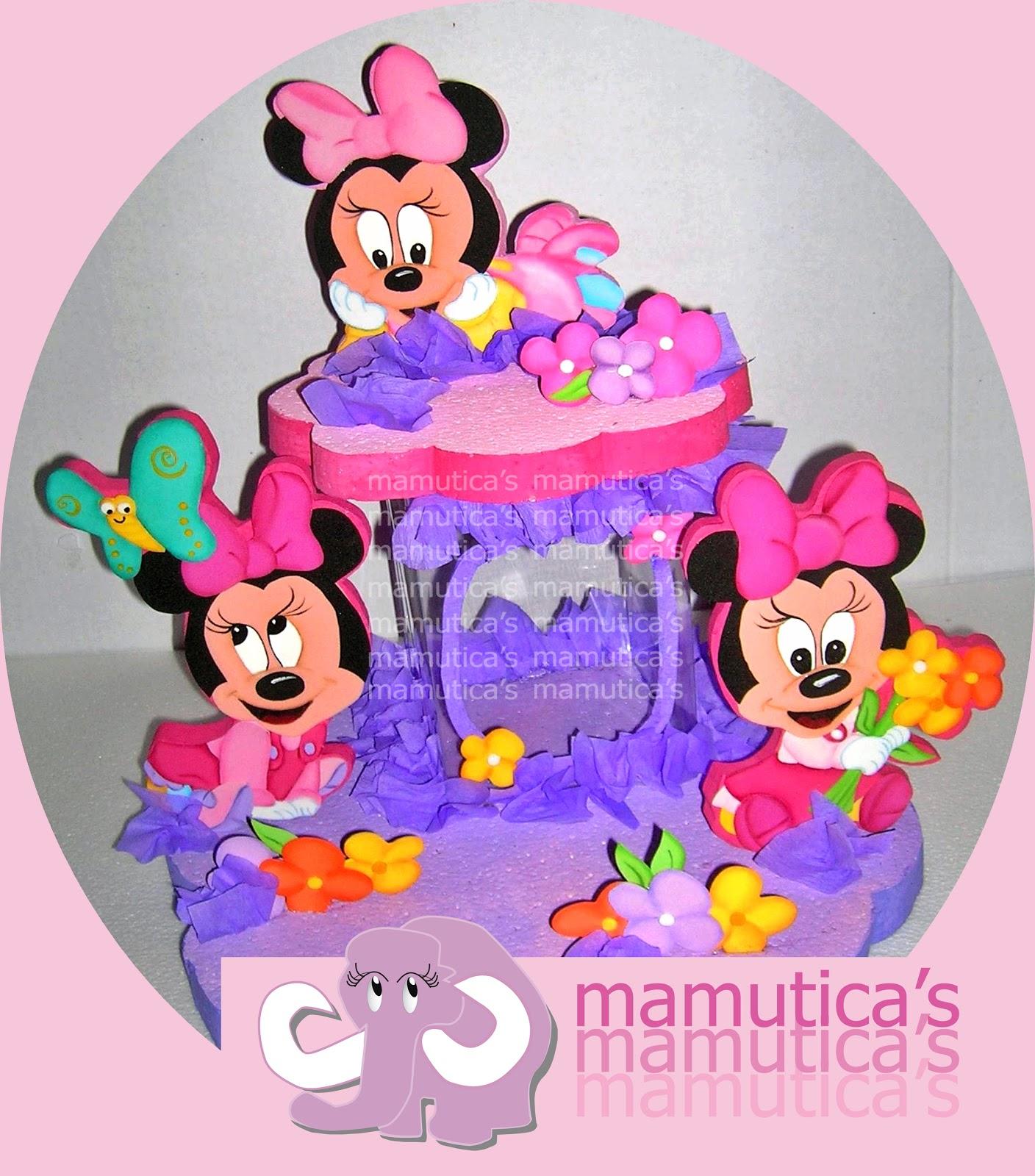 Mamutica's: Letrero de Bienvenidos Baby Minnie y chupetero en ...