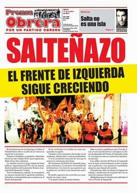 YA SALIO PRENSA OBRERA Nº 1289
