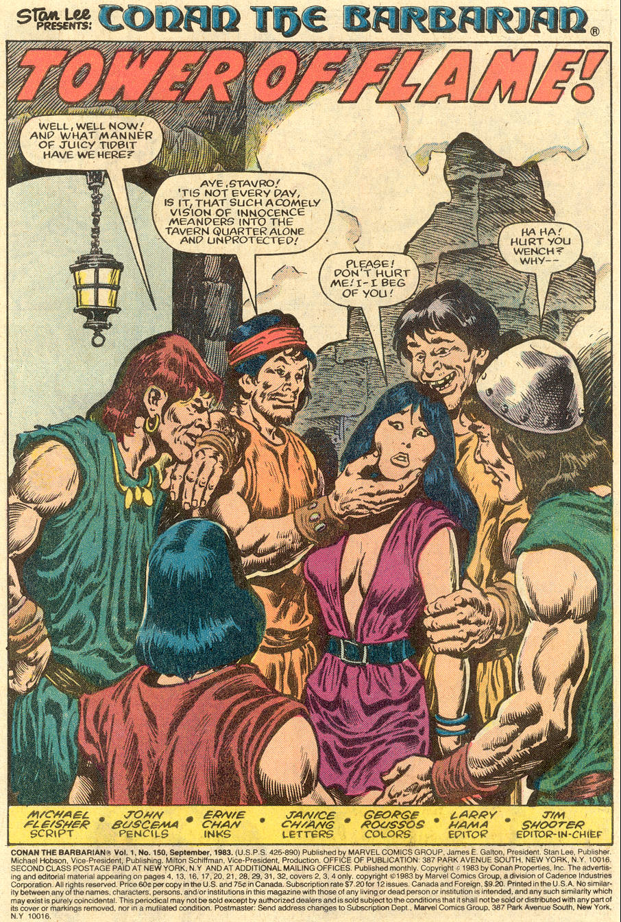Conan the Barbarian (1970) Issue #150 #162 - English 2