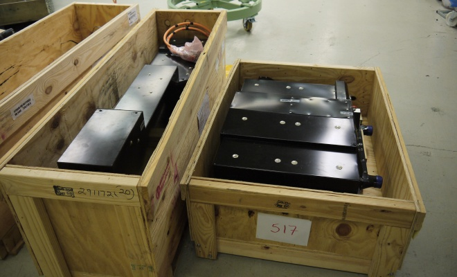 C30 batteries in crates
