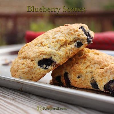 blueberry scones  | breakfast scones