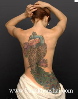 Peacock And Peacock Feather tattoos