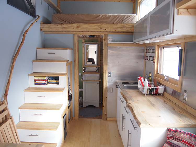 Tiny house e kinsley small spaces addiction for Two bedroom tiny home