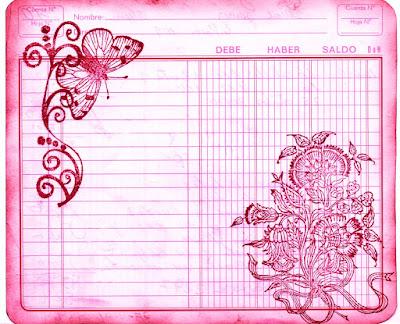 fondo vintage cuaderno de cuentas viejo rosa para scrapbooking