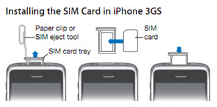how to open an iphone 3 to insert sim