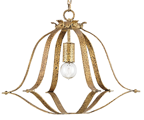 rustic gold modern lighting