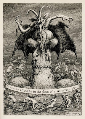 """""""He Usually Attended In The Form Of A Monstrous Goat;"""" Frank C. Pape"""