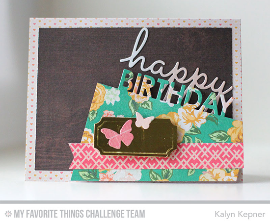 Lovely Birthday Card by Kalyn Kepner featuring the Laina Lamb Design Hip Clips and Blueprints 26 Die-namics #mftstamps