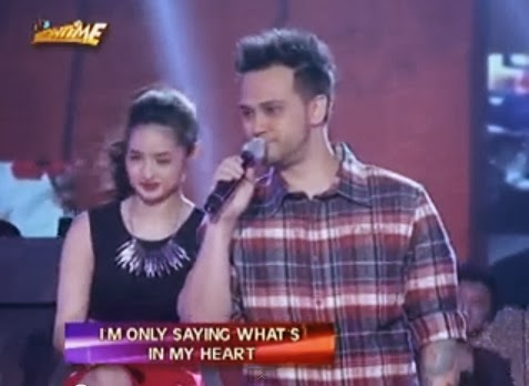 Host-singer Billy Crawford serenaded rumored girlfriend Coleen Garcia in the Valentine's Day
