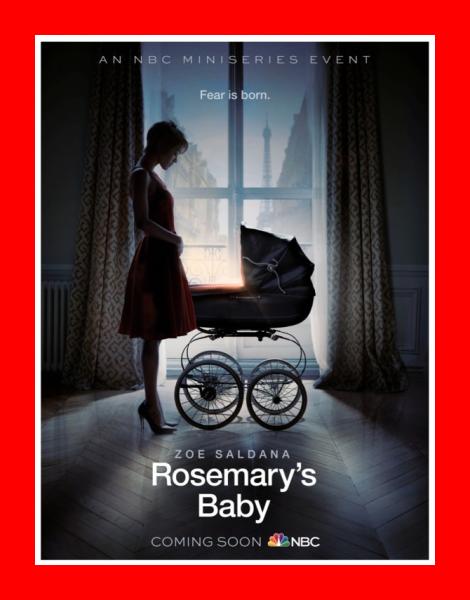 Zoe Saldana Rosemary's Baby Poster