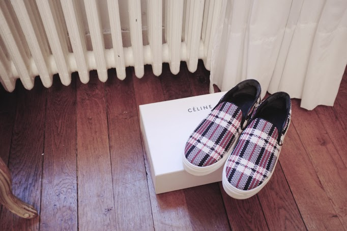 Celine plaid 'Chinatown' slip-ons